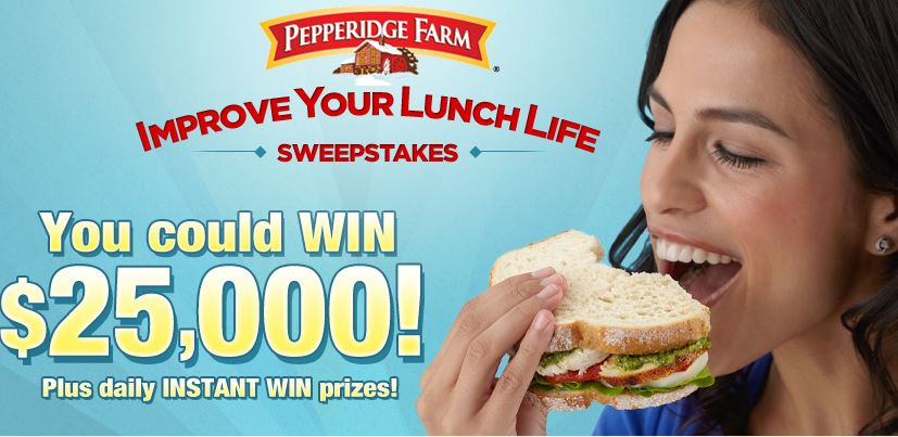 pepperidge farm instant win game and sweepstakes